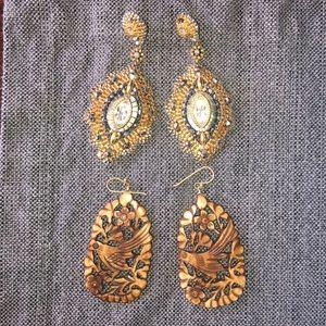 Anthropologie earrings bundle of 2